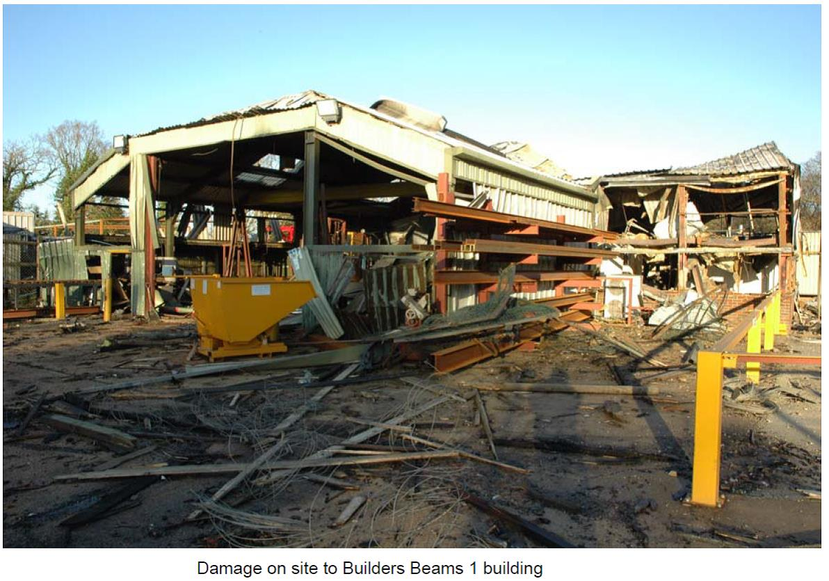 2006 Marlie Farm How To Build Whistle Responder Post Explosion Damage Image Courtesy Of East Sussex Fire And Rescue Service Esfrs Circa 2007